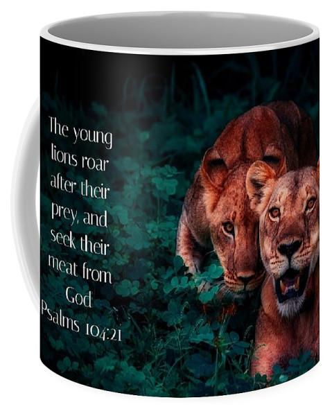 Lions Seek Food From God - Mug - Love the Lord Inc