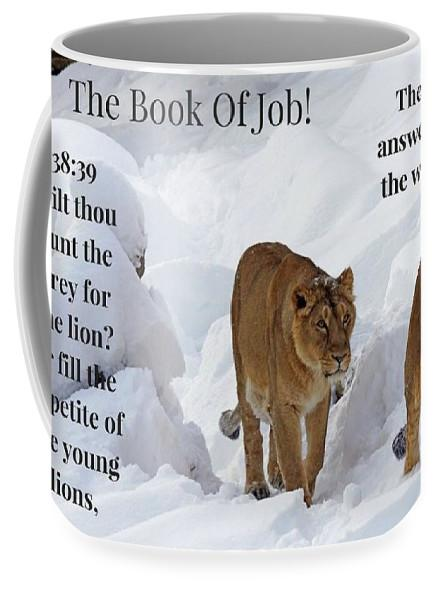 The Book Of Job 2lions - Mug - Love the Lord Inc