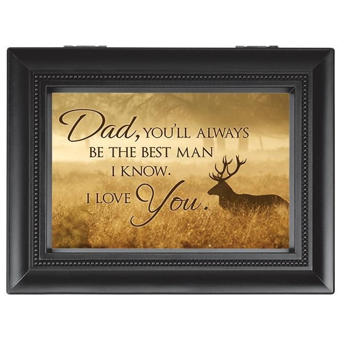 Music Box -  Dad, Best Man and I Love You (Large) - Love the Lord Inc