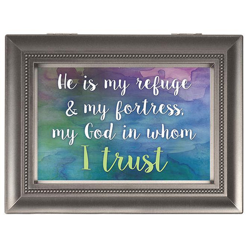 Music Box - He Is My Refuge (large) - Love the Lord Inc