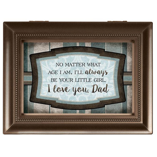 Music Box - I will Always Be Your Little Girl Dad (Large) - Love the Lord Inc