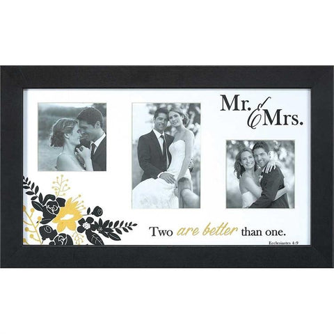 "PHOTO FRAMES - Christian Photo Frame - Mr And Mrs ""Two Are Better Than One"""