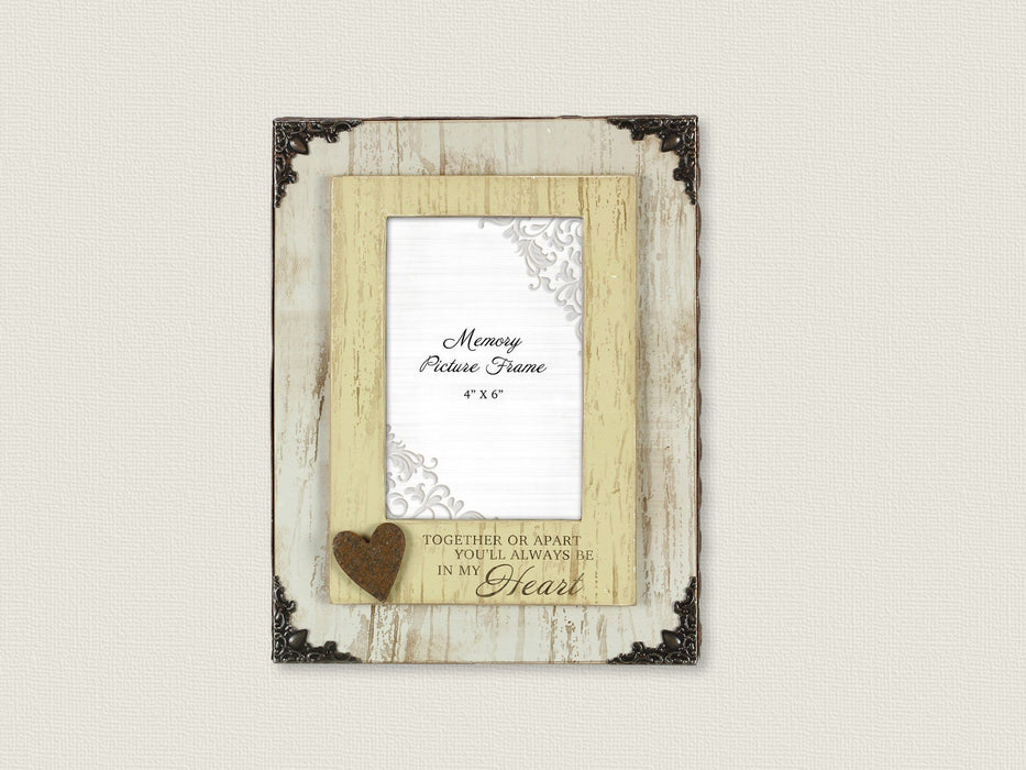 Christian Photo Frame - Together or Apart, You will Always Be In My Heart - Love the Lord Inc