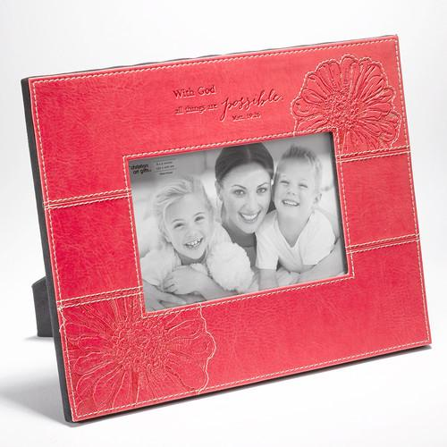 "Christian Picture Frame - ""With God All Things Are Possible"" - Love the Lord Inc"