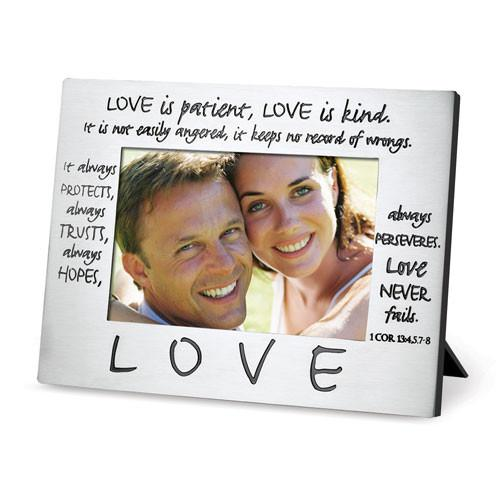 Scripture Gifts - Photo Frame (Love Is Patient) – Love the Lord Inc