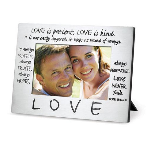 PHOTO FRAMES - Scripture Gifts - Photo Frame (Love Is Patient, Love Is Kind)