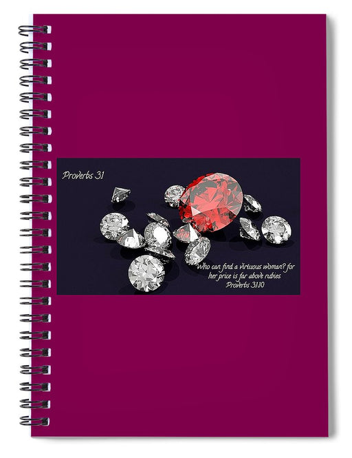 Price Far Above Rubies Proverbs 31 Woman - Spiral Notebook - Love the Lord Inc