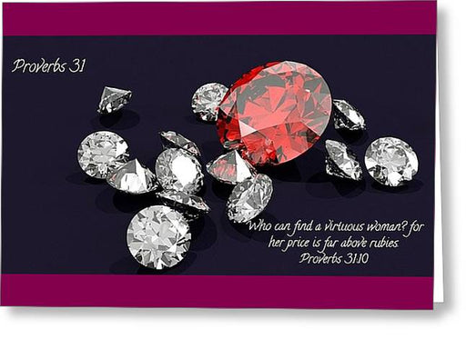 Price Far Above Rubies Proverbs 31 Woman - Greeting Card - Love the Lord Inc