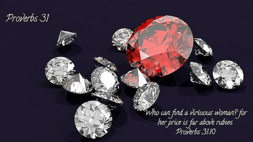 Price Far Above Rubies Proverbs 31 Woman - Art Print - Love the Lord Inc