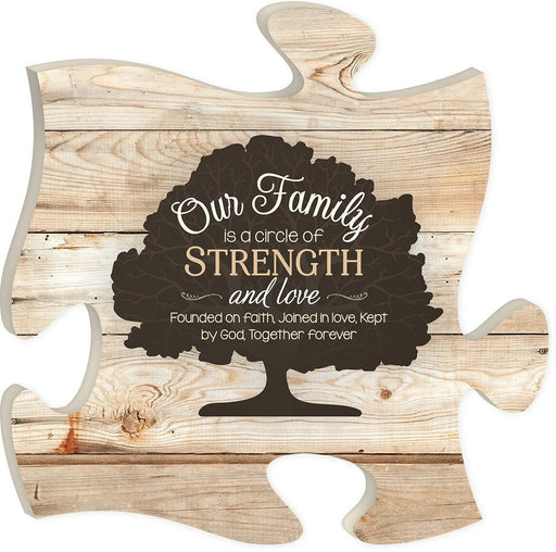 "Christian Wall Art - Puzzle Piece ""Our Family"" - Love the Lord Inc"
