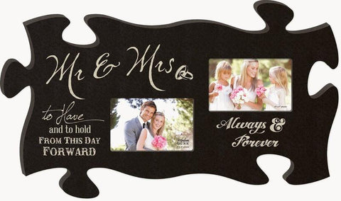 "Puzzle Piece - Scripture Gifts - Mr. And Mrs. ""To Have And To Hold"""