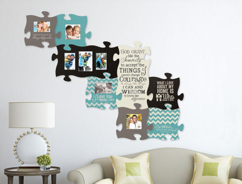 Puzzle Piece - Scripture Gifts -- Puzzle Piece Picture Frame Mr. And Mrs.