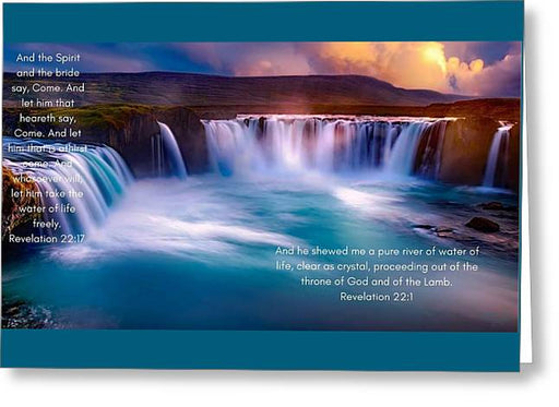 River Of Life - Greeting Card - Love the Lord Inc