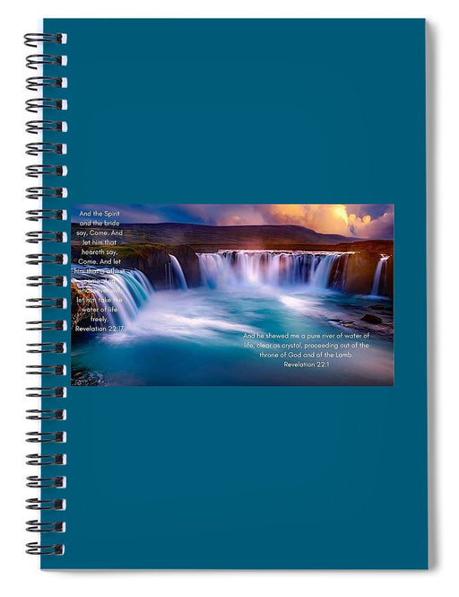 River Of Life - Spiral Notebook - Love the Lord Inc