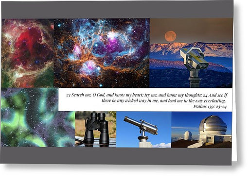 Search Me Oh Lord - Telescope - Greeting Card - Love the Lord Inc