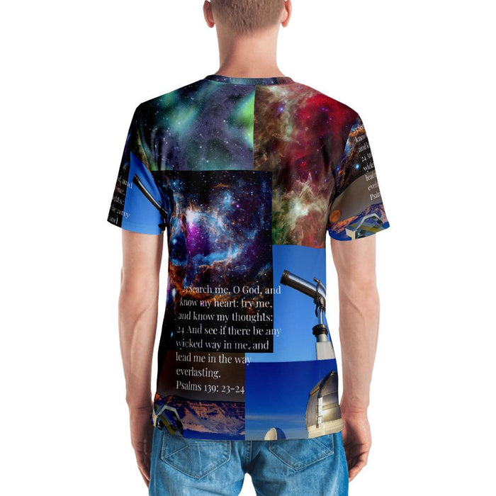 Search Me Oh Lord (Telescope Men's T-shirt) - Love the Lord Inc