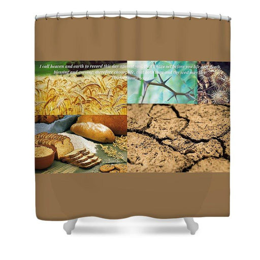 Blessing And Curses - Shower Curtain - Love the Lord Inc