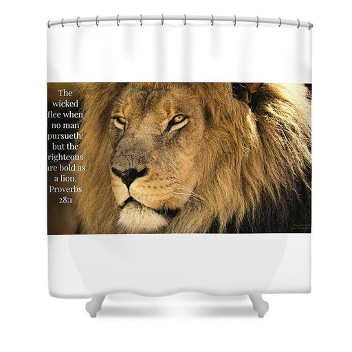 Bold As A Lion - Shower Curtain - Love the Lord Inc