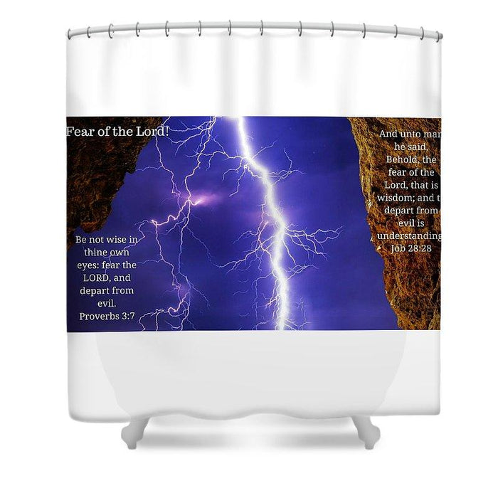 Fear Of The Lord Proverbs And Job - Shower Curtain - Love the Lord Inc