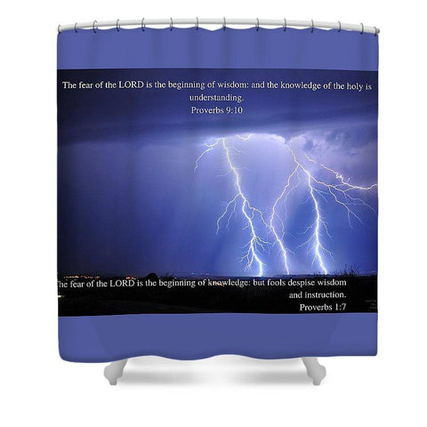Shower Curtain - Fear Of The Lord - Thunder - Shower Curtain