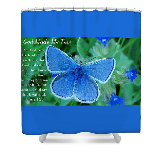 God Made Me Too Bf2 - Shower Curtain - Love the Lord Inc