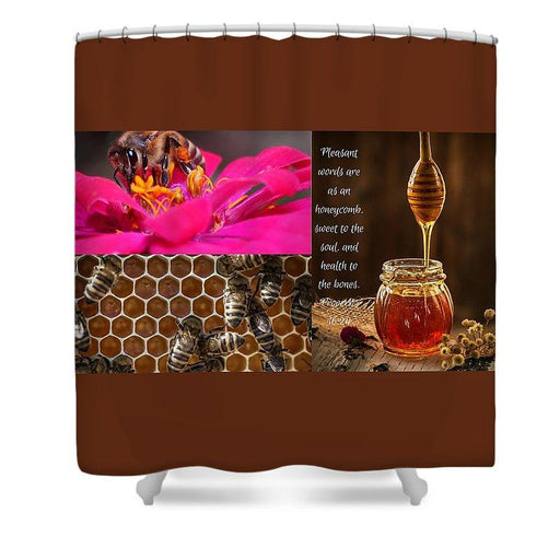 Pleasant Words And Honey - Shower Curtain - Love the Lord Inc