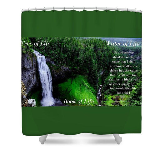 Tree Book Water Of Life - Shower Curtain - Love the Lord Inc