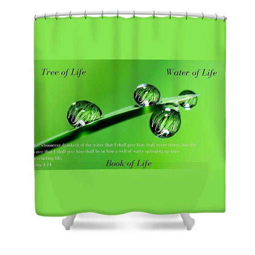 Tree Water Book Of Life Water Drops - Shower Curtain - Love the Lord Inc