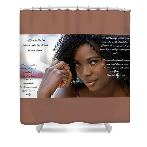 Your Body Is Not Your Own - Shower Curtain - Love the Lord Inc