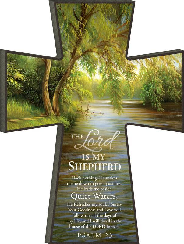 Smaller Size Wall Art - CHRISTIAN CROSS - THE LORD IS MY SHEPHERD