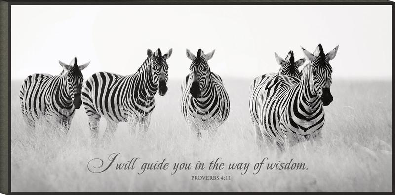 Christian Wall Art - I will Guide You In The Way Of Wisdom (Prov 4:11) - Love the Lord Inc