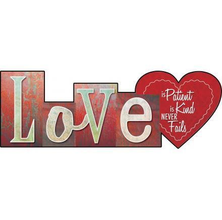 Christian Wall Art - Love Is Patient, Love is Kind - Love the Lord Inc