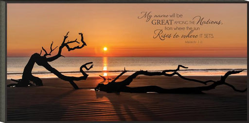 "Christian Wall Art - ""My Name Will Be Great Among The Nations"" - Love the Lord Inc"