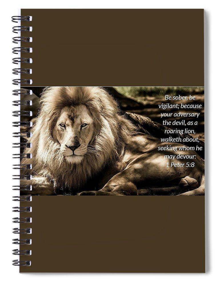 Be Sober Your Adversary - Spiral Notebook - Love the Lord Inc