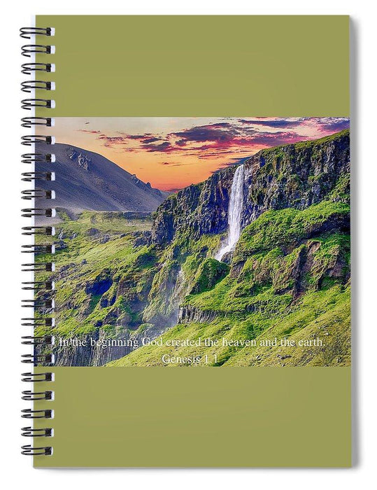 In The Beginning God Created - Spiral Notebook - Love the Lord Inc