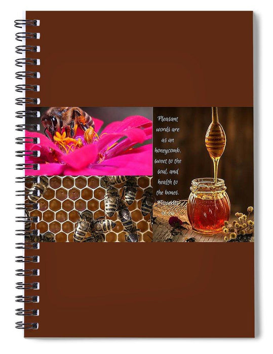 Pleasant Words And Honey - Spiral Notebook - Love the Lord Inc