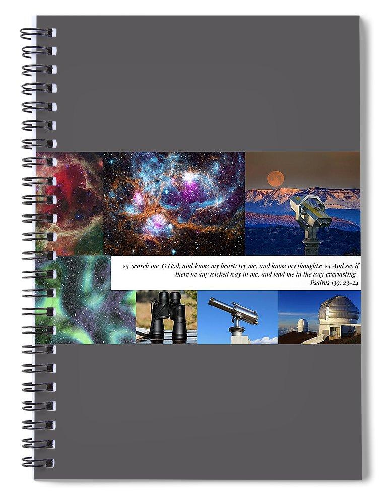 Search Me Oh Lord - Telescope - Spiral Notebook - Love the Lord Inc