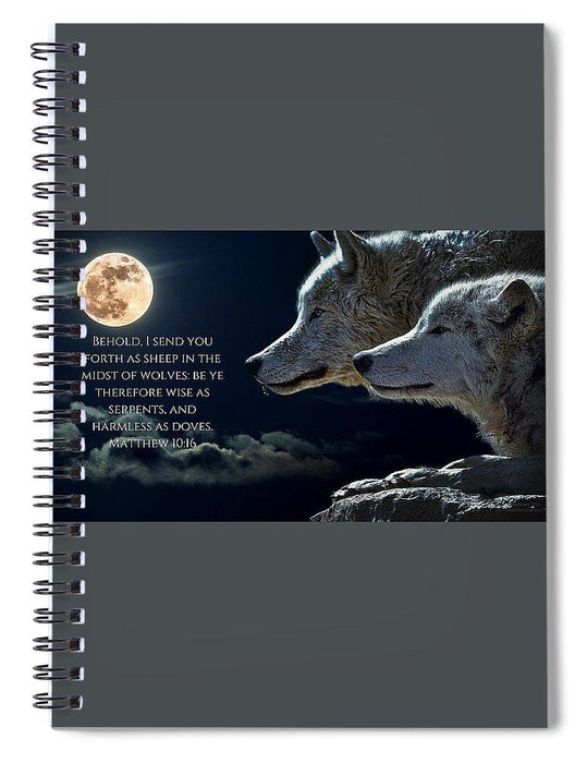 Sheep Amongst Wolves - Spiral Notebook - Love the Lord Inc