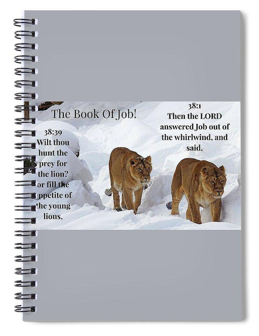 The Book Of Job 2lions - Spiral Notebook - Love the Lord Inc