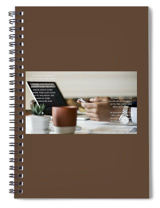 Work, God And Christ - Spiral Notebook - Love the Lord Inc