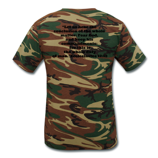Camouflage T-Shirt - Fear God, Keep His Commandments - Love the Lord Inc