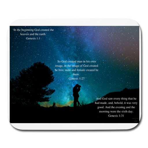 Mouse pad Horizontal - God Created - Love the Lord Inc