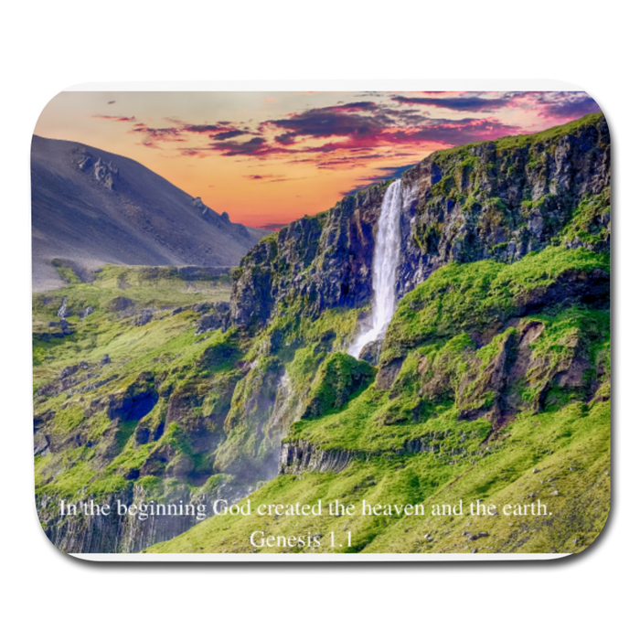 Mouse pad Horizontal - In The Beginning God Created - Love the Lord Inc