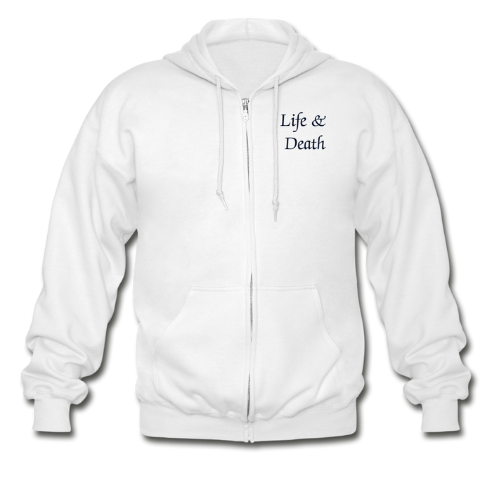 Gildan Heavy Blend Adult Zip Hoodie - Life & Death - Love the Lord Inc