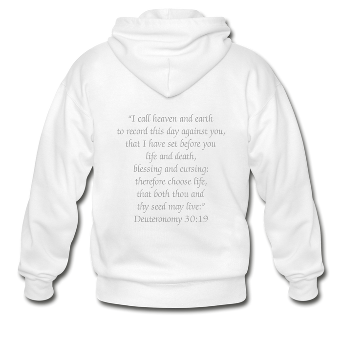 Gildan Heavy Blend Adult Zip Hoodie - Life and Death - Love the Lord Inc