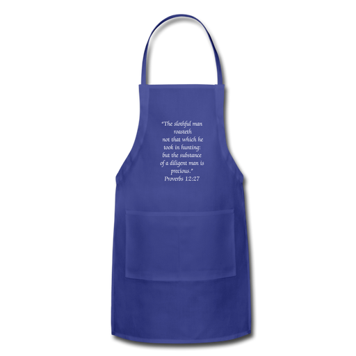 Adjustable Apron - For The Man Who Likes His Bar-B-Que - royal blue