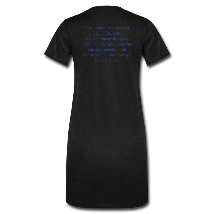 Women's T-Shirt Dress - Wisdom (Blue) - Love the Lord Inc