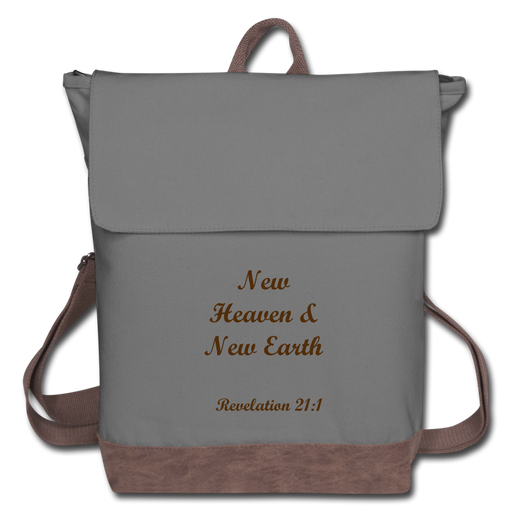 Canvas Backpack - New Heaven & New Earth - Love the Lord Inc