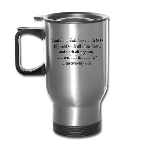 Travel Mug - Love God - silver
