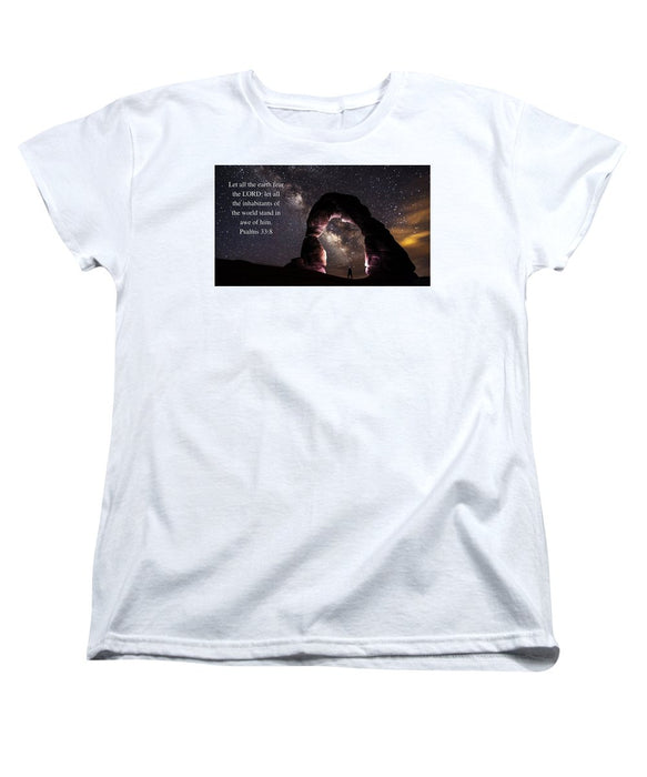 Stand In Awe Of Him - Women's T-Shirt (Standard Fit) - Love the Lord Inc